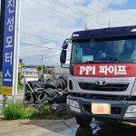 타타대우 프리마 유로6 피아트엔진 윙바디 탑차차량 DPF 건식 크리닝작업, DPF 가스켓 교환